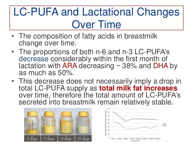 Changing LC-PUFA Requirements in Infancy • In the absence of firm evidence to define reference nutrient intakes for newbor...