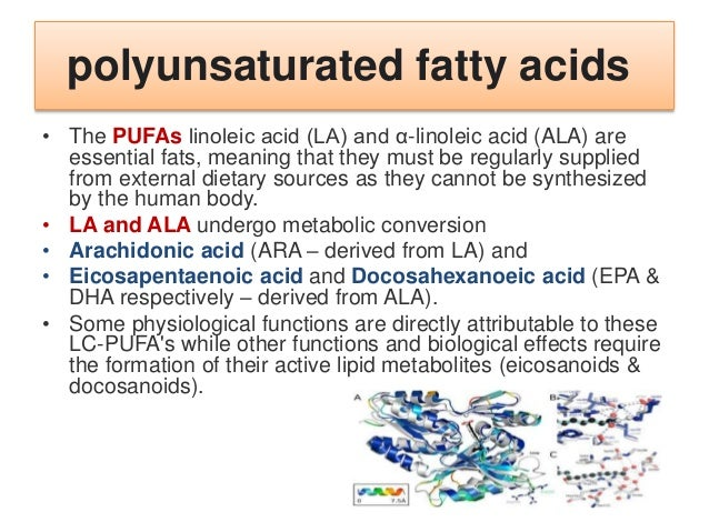 long-chain polyunsaturated fatty acids (LC-PUFA) • LC-PUFAs can be further metabolised into short-lived lipids known as ei...