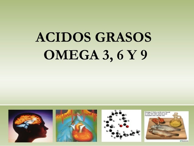 ACIDOS GRASOS OMEGA 3, 6 Y 9