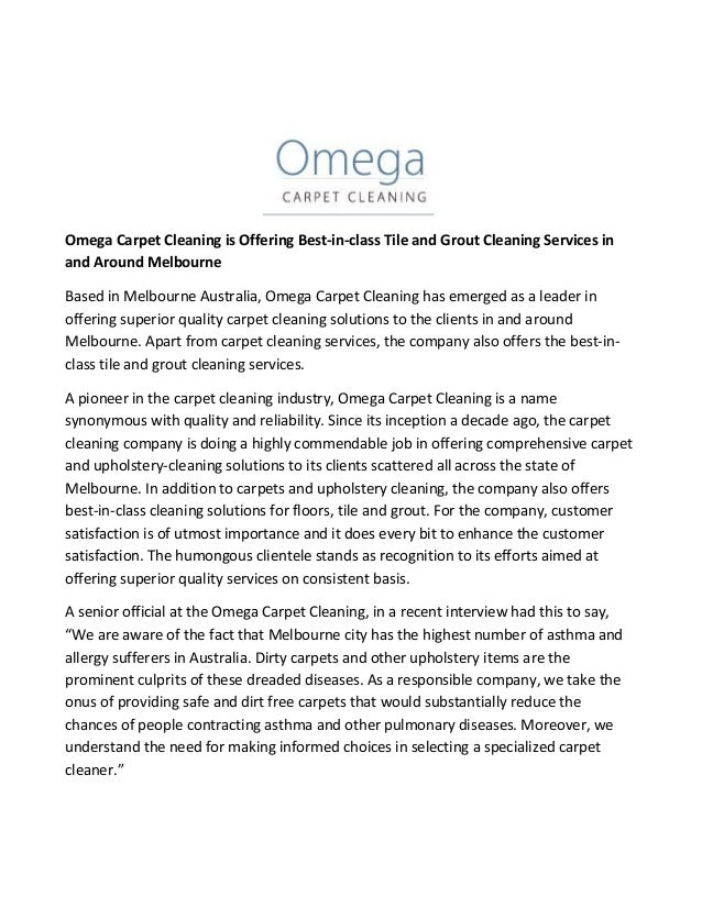 Omega Carpet Cleaning Is Offering Best In Class Tile And Grout Cleani