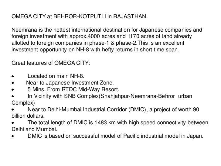 Omega City Plots on NH8 Slide 2