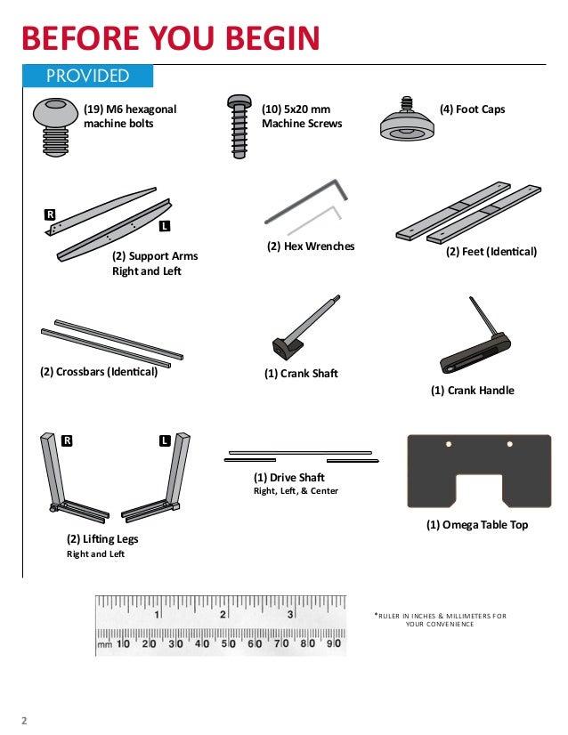 Omega Denali Adjustable Height Desk Manual