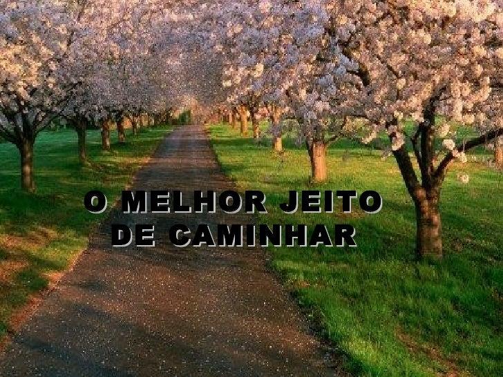 O MELHOR JEITO DE CAMINHAR
