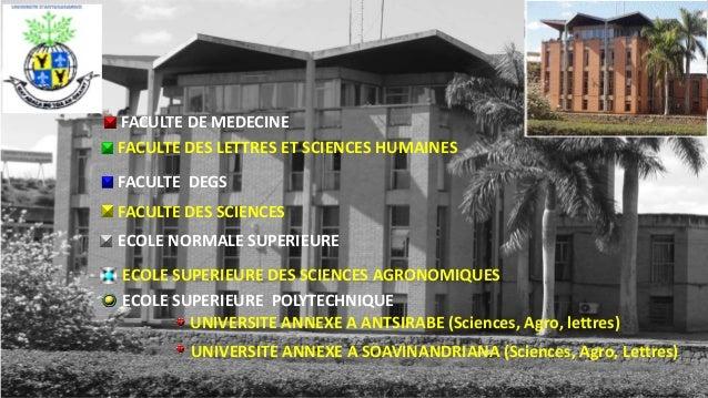 FACULTE DEGS FACULTE DES SCIENCES FACULTE DE MEDECINE FACULTE DES LETTRES ET SCIENCES HUMAINES ECOLE NORMALE SUPERIEURE EC...