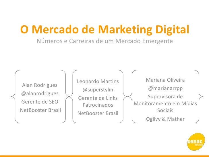 O Mercado de Marketing Digital      Números e Carreiras de um Mercado Emergente                    Leonardo Martins       ...