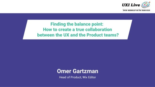 Hi.I'm Omer, Head of Product - Wix Website Editor. I'm Yaniv, Head of UX - Editor Studio Together with a bunch of other pe...