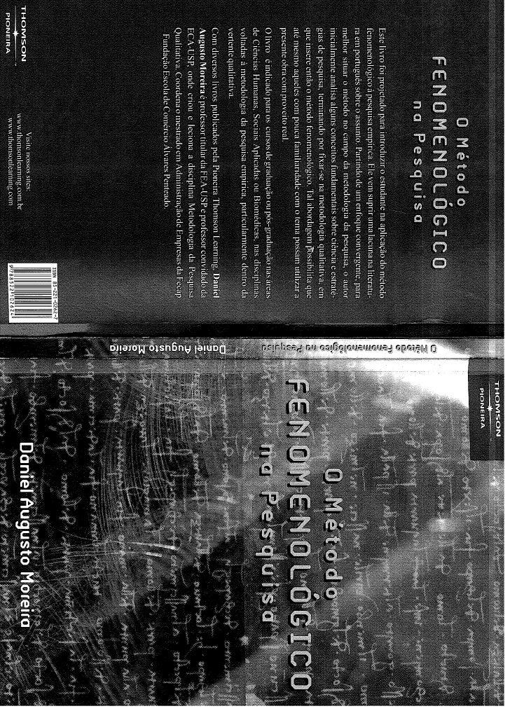 O metodo fenomenologico_na_pesquisa_-_daniel_agusto_moreira