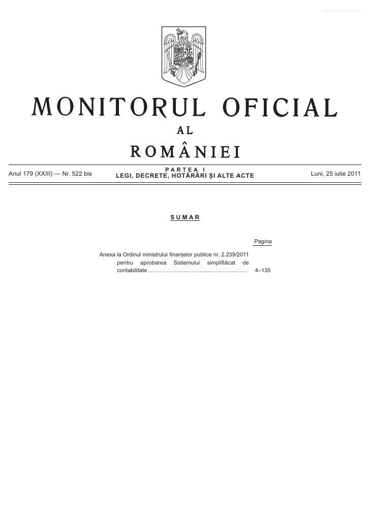 www.CodFiscal.net                                                                      PARTEA IAnul 179 (XXIII) — Nr. 522 ...