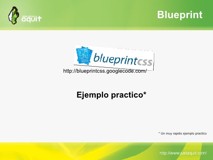 Omg frameworks introduccin a blueprint y jquery por joan piedra blueprint malvernweather Choice Image