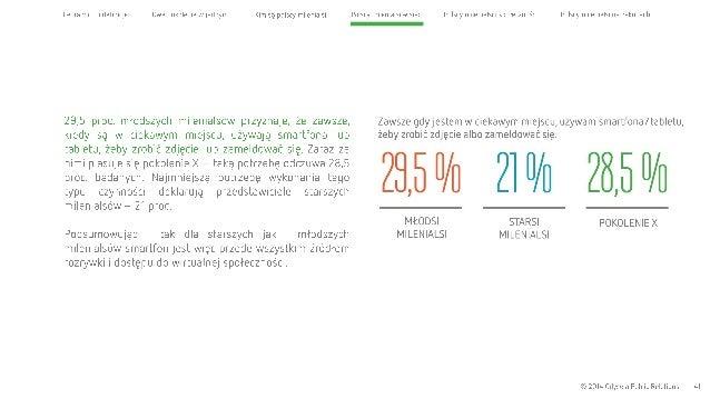 Cel raportu i definicje Dwa pokolenia wjednym Kim są polscy milenialsi  29,5 proc.  młodszych milenialsów przyznaje,  że z...