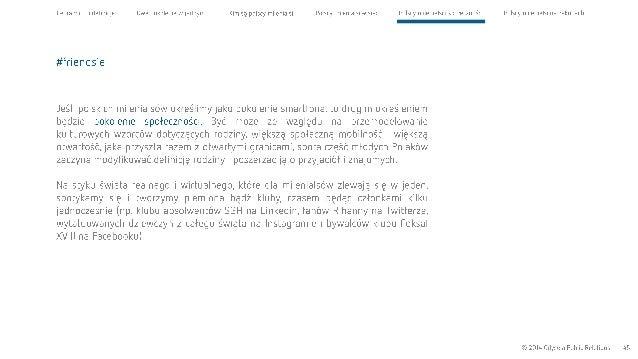 Cel raportu i definicje Dwa pokolenia wjednym Kim są polscy milenialsi Polscy milenialsi W sieci Polscy milenialsi i społe...