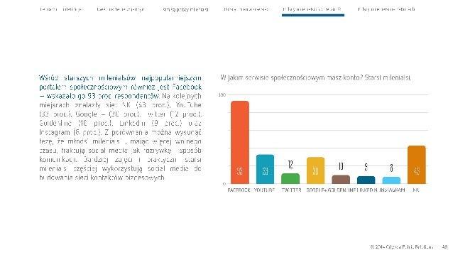Cel raportu l definicje Dwa pokolenia w jednym  Wśród starszych milenialsów najpopularniejszym portalem społecznościowym r...