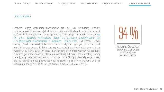 Cel raportu l definicje Dwa pokolenia wjednym Kim są polscy milenialsi Polscy milenialsi w sieci  #prosumenci  Jeszcze nig...