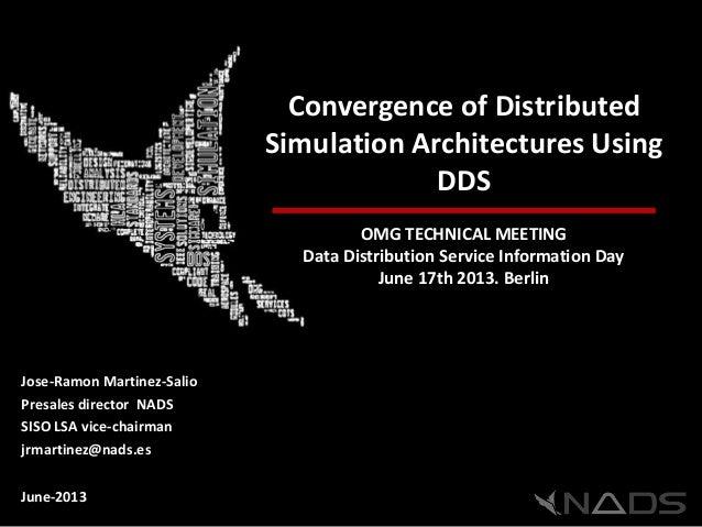 Convergence of DistributedSimulation Architectures UsingDDSOMG TECHNICAL MEETINGData Distribution Service Information DayJ...
