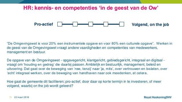 """22 maart 201811 Volgend, on the jobPro-actief HR: kennis- en competenties 'in de geest van de Ow' """"De Omgevingswet is voor..."""