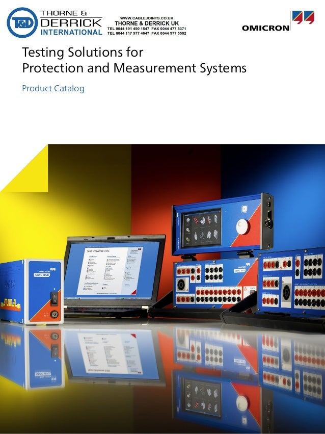 OMICRON Testing Solutions For Protection & Measurement