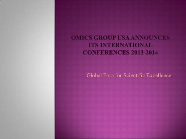 Global Fora for Scientific Excellence