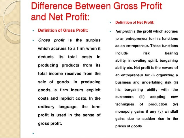 difference between profit and profitability Difference between profit and profitability the difference between economic profit and accounting profit when it comes to business decisions, there are many ways to.