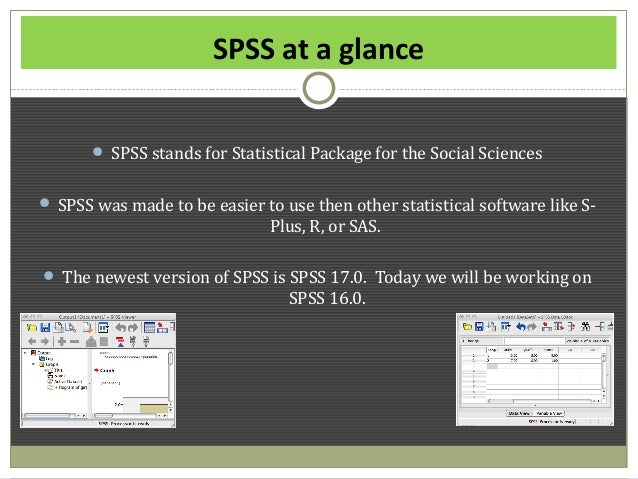 spss stands for