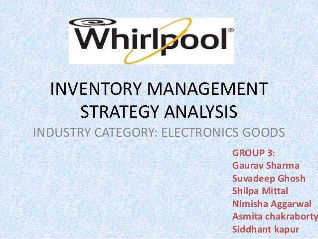 case report whirlpools strategy in One of the first courses to convert to online was whirlpool's strategic  in the  case of whirlpool university, we had to overcome two big.