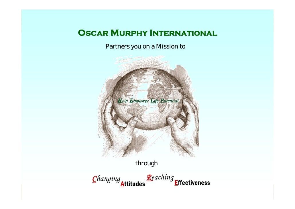 Oscar Murphy International           Oscar Murphy International                         Partners you on a Mission to      ...