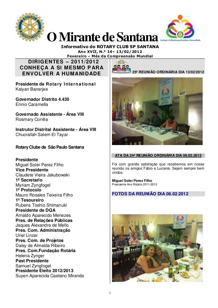 O Mirante de Santana                       Informativo do ROTARY CLUB SP SANTANA                                Ano XVII, ...