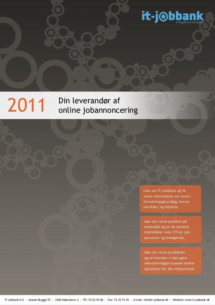 2011                                 Din leverandør af                                       online jobannoncering        ...