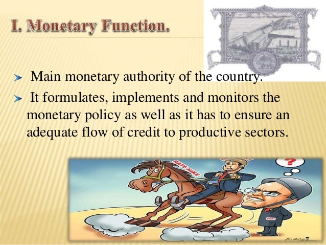 Banker to the Government: performs merchant  banking function for the central and the state  governments; also acts as the...