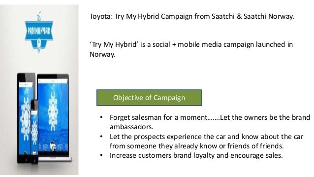 Toyota Quot Try My Hybrid Quot Campaign