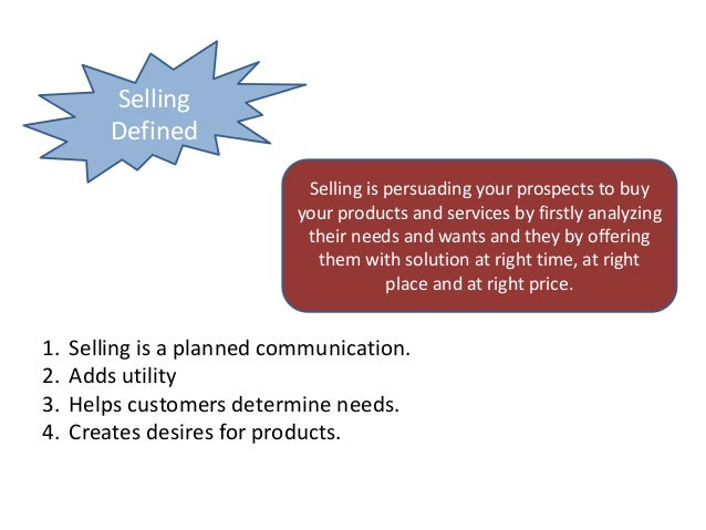 What is Selling Slide 3