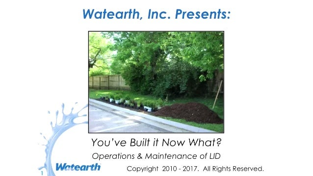 Watearth Operations & Maintenance of LIDs