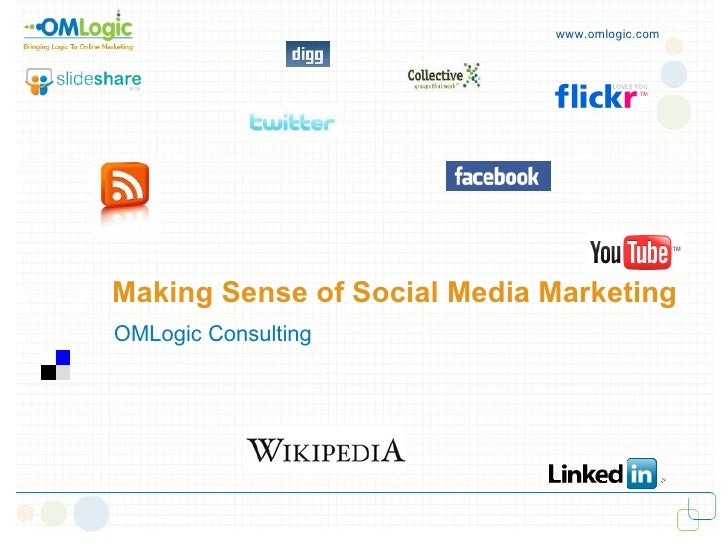 www.omlogic.com     Making Sense of Social Media Marketing  OMLogic Consulting