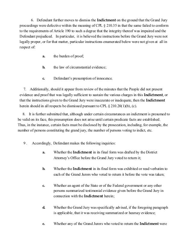 Omnibus motion bribery-J JOHN SEBASTIAN ATTORNEY