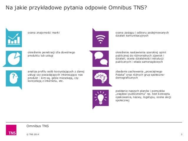 Omnibus TNS Polska - oferta Slide 3