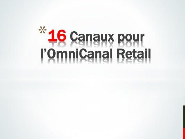 *16 Canaux pour l'OmniCanal Retail