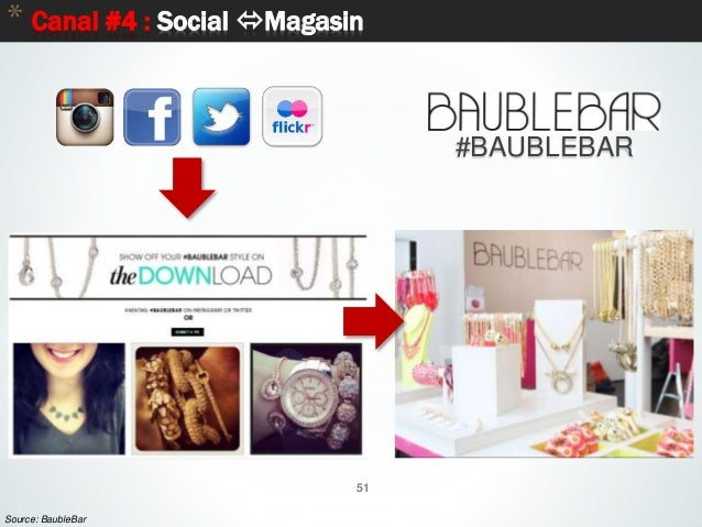 51 * Canal #4 : Social Magasin 51 Source: BaubleBar #BAUBLEBAR