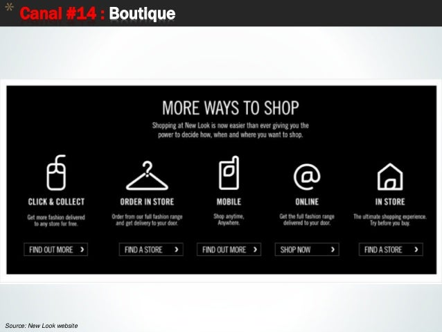 76 * Canal #14 : Boutique Source: New Look website
