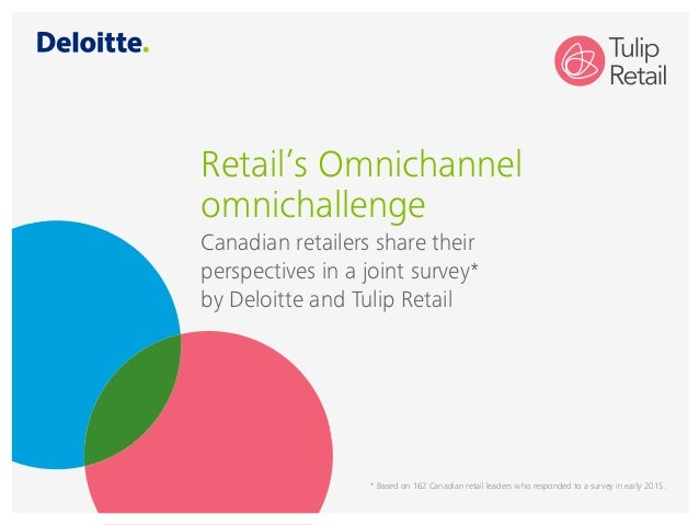 Retail's Omnichannel omnichallenge Canadian retailers share their perspectives in a joint survey* by Deloitte and Tulip Re...