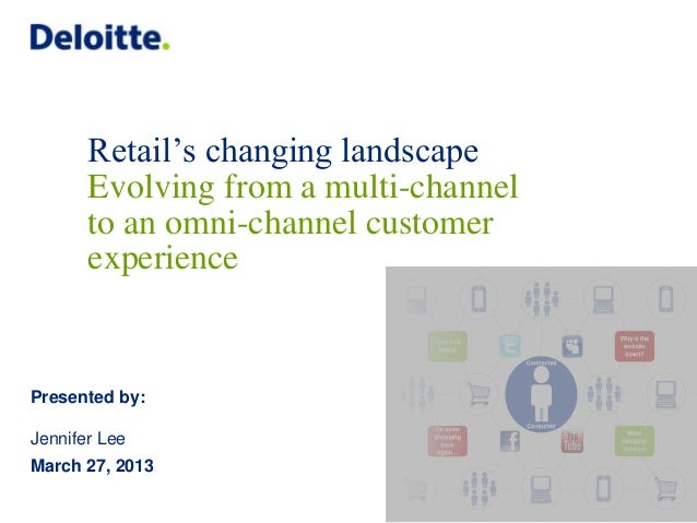 Retail's changing landscape       Evolving from a multi-channel       to an omni-channel customer       experiencePresente...
