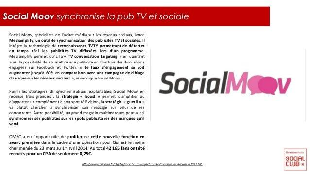 Social Moov, spécialiste de l'achat média sur les réseaux sociaux, lance Mediamplify, un outil de synchronisation des publ...