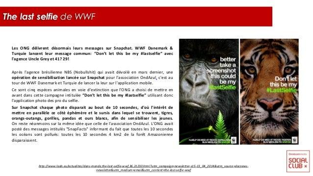 """Les ONG délivrent désormais leurs messages sur Snapchat. WWF Danemark & Turquie lancent leur message commun: """"Don't let th..."""