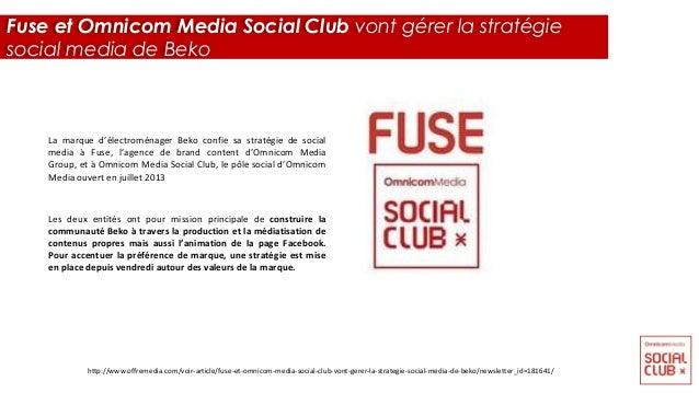 La marque d'électroménager Beko confie sa stratégie de social media à Fuse, l'agence de brand content d'Omnicom Media Grou...