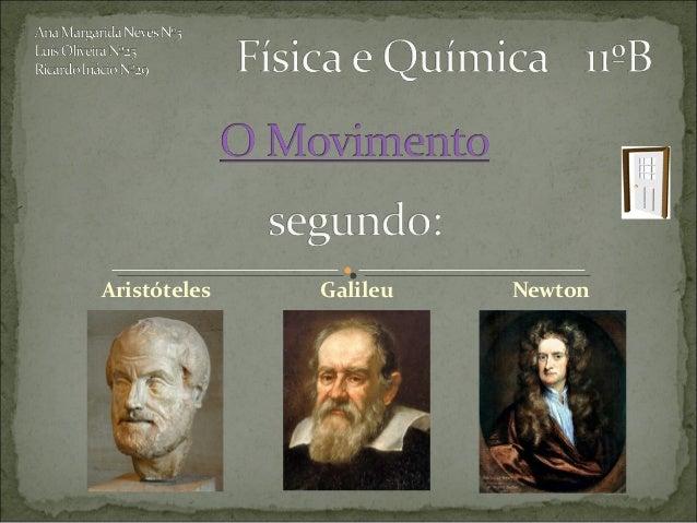 Aristóteles   Galileu   Newton