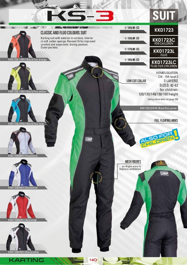 OMP KS-3 Suit Black White Size 62 Go Karting Racing Sport Overall CIK 3 Layers