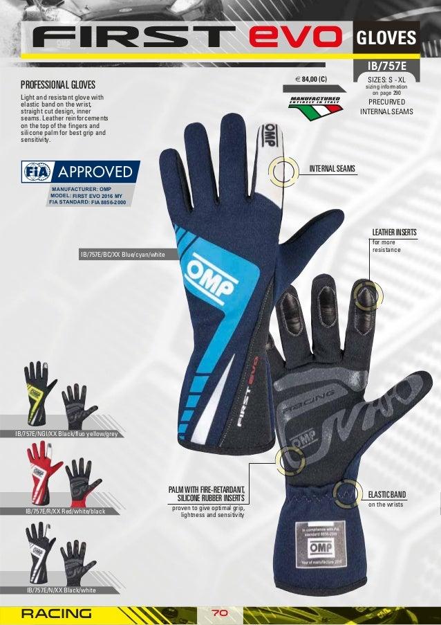 IB//757//R//XL First Evo Gloves, Red, X-Large OMP