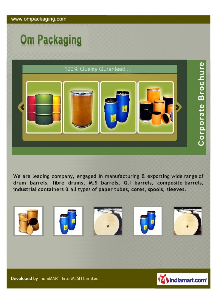 We are leading company, engaged in manufacturing & exporting wide range ofdrum barrels, fibre drums, M.S barrels, G.I barr...