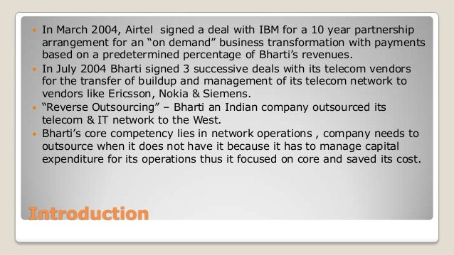 Strategic Outsourcing at Bharti Airtel Ltd. Harvard Case Solution & Analysis