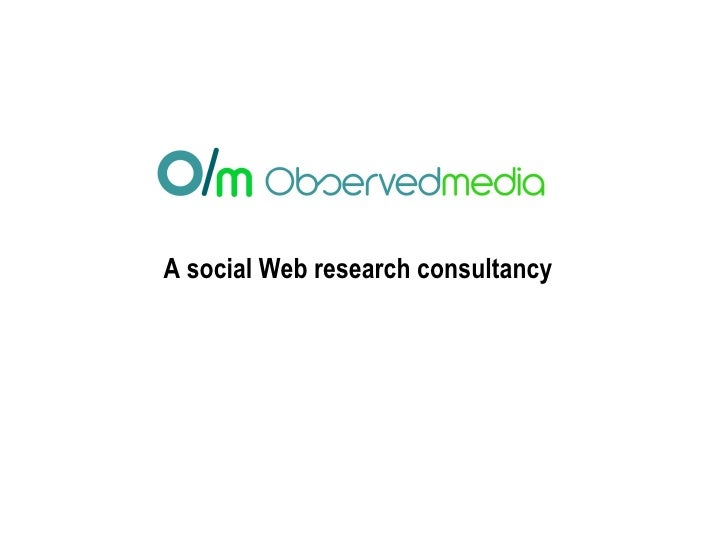 A social Web research consultancy