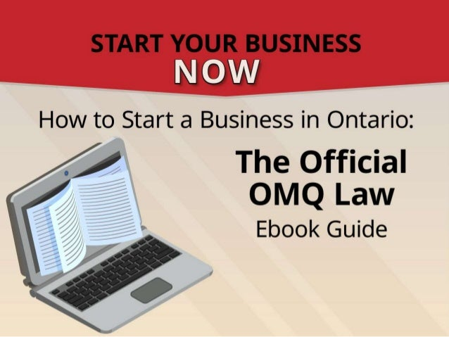 Opening A  Startup Business In Ontario [Ebook Trailer]
