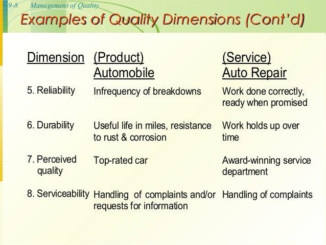 8 dimensions of quality pdf